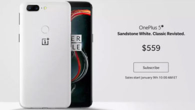 OnePlus 5T new Sandstone White variant launched at $559; to go on sale from 9th January