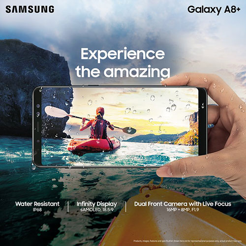 Samsung Galaxy A8+ with 6 inch Infinity Display, 16MP + 8MP Dual front cameras launched in India at Rs. 32,990