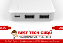 5 Best Power Banks under 1500 Rs in India (2018)
